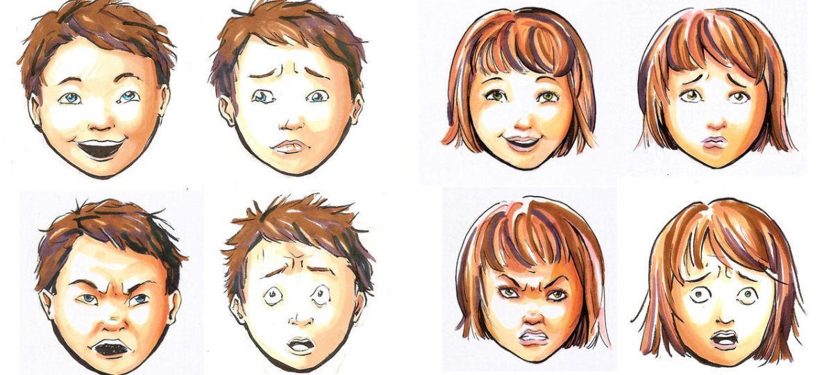 Blij, boos, bang en verdrietig bij kinderen