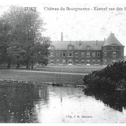Achterzijde van het kasteel ten tijde van Wittouck.