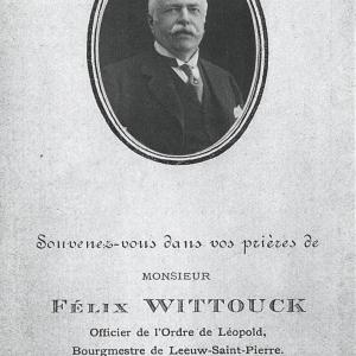 Felix Wittouck, geboren in het kasteel in 1849 en gestorven op 9 mei 1916.